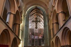 Kathedraal van Onze Dame in Tournai, België Stock Foto's
