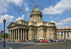 Kathedraal van Onze Dame van Kazan in Heilige Petersburg, Rusland Stock Fotografie