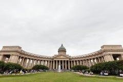 Kathedraal van Onze Dame van Kazan, 14 September 2016, heilige-Petersburg, Rusland Stock Afbeeldingen