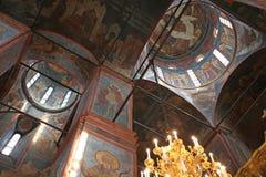 Kathedraal van Onze Dame van Smolensk Het Klooster van Novodevichiy Stock Afbeelding