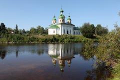 Kathedraal van Onze Dame van Smolensk Olonec Karelië Rusland Stock Fotografie