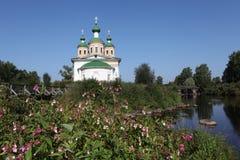 Kathedraal van Onze Dame van Smolensk Olonec Karelië Rusland Stock Afbeelding