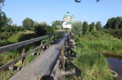 Kathedraal van Onze Dame van Smolensk Olonec Karelië Rusland Stock Foto's