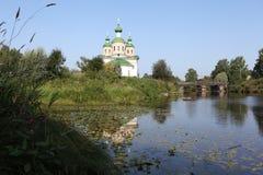 Kathedraal van Onze Dame van Smolensk Olonec Karelië Rusland Royalty-vrije Stock Afbeelding