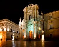 Kathedraal van Ortigia, Sicilië Stock Foto's