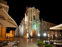 Kathedraal van Ortigia, Sicilië Stock Foto