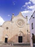 Kathedraal van Ostuni stock foto's