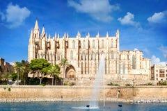 Kathedraal van Palma DE Mallorca Stock Foto's