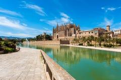 Kathedraal van Palma de Mallorca, Spanje Stock Afbeeldingen