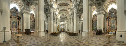 Kathedraal van Passau stock foto