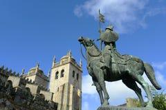 Kathedraal van Porto, Portugal Stock Foto's