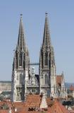 kathedraal van Regensburg in Duitsland Stock Afbeeldingen