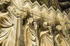 Kathedraal van Reims Stock Foto's