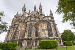 Kathedraal van Reims - Buitenkant Stock Afbeelding