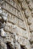 Kathedraal van Reims - Buitenkant Royalty-vrije Stock Fotografie