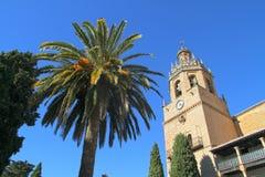 Kathedraal van Ronda, Spanje stock afbeelding
