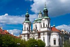 Kathedraal van Saint Nicolas in Praag Stock Foto
