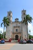 Kathedraal van San Gervasio, Valladolid (Mexico) stock foto's
