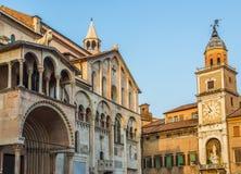 Kathedraal van Santa Maria Assunta e San Geminiano van Modena, in Emilia-Romagna Italië Stock Afbeeldingen