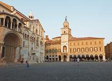 Kathedraal van Santa Maria Assunta e San Geminiano van Modena, in Emilia-Romagna Italië Royalty-vrije Stock Foto