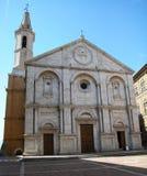 Kathedraal van Santa Maria Assunta, Pienza, Toscanië, Italië royalty-vrije stock foto