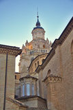 Kathedraal van Santa Maria de la Huerta, Tarazona, Royalty-vrije Stock Foto's