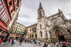 Kathedraal van Santiago, Bilbao Stock Fotografie