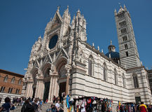 Kathedraal van Siena, Italië. royalty-vrije stock afbeeldingen