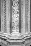 Kathedraal van Siena, marmeren kolomdetail De Zwart-witte foto van Peking, China Royalty-vrije Stock Afbeelding