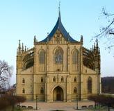 Kathedraal van St Barbara, Kutna Hora, Tsjechische Republiek royalty-vrije stock foto's