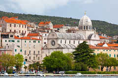 Kathedraal van St James in Sibenik, Kroatië royalty-vrije stock foto