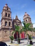 Kathedraal van St Lawrence in Santa Cruz, Bolivië stock foto