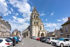 Kathedraal van St.Louis van Blois, Frankrijk stock fotografie