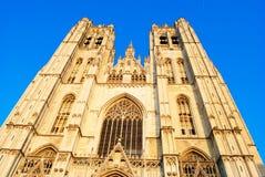 Kathedraal van St Michael en St Gudula Stock Afbeeldingen