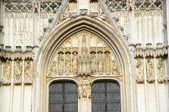 Kathedraal van St Michael en St Gudula in Brussel, België royalty-vrije stock fotografie