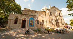 Kathedraal van St. Nicholas in oud Varna stock foto