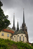 Kathedraal van St. Peter en Paul in Brno Royalty-vrije Stock Foto