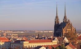 Kathedraal van St Peter en Paul met andere gebouwen stock fotografie
