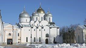 Kathedraal van St Sophia in Veliky Novgorod stock footage