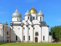 Kathedraal van St Sophia in Veliky Novgorod, Rusland Stock Fotografie