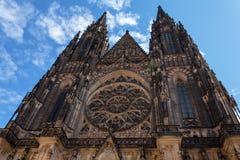 Kathedraal van St Vito, de mooiste kathedraal van Praag Stock Afbeelding