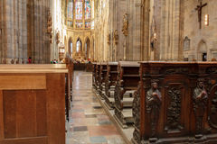 Kathedraal van St Vito, de mooiste kathedraal van Praag Royalty-vrije Stock Afbeeldingen
