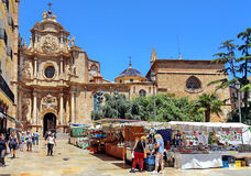 Kathedraal van Valencia, Spanje Stock Foto's