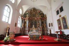 Kathedraal van Veronderstelling in Varazdin, Kroatië Stock Foto