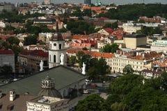 Kathedraal van Vilnius. stock foto's