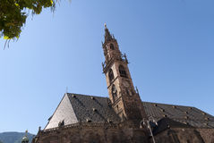 Kathedraal in van Zuid- Bolzano Tirol Italië Stock Afbeeldingen