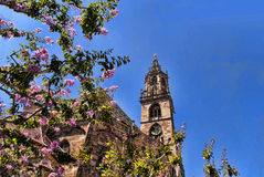 Kathedraal in van Zuid- Bolzano Tirol Italië Royalty-vrije Stock Foto's