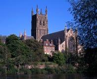 Kathedraal, Worcester, het UK. Stock Afbeeldingen