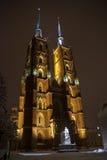 Kathedraal in Wroclaw. Polen Stock Afbeeldingen
