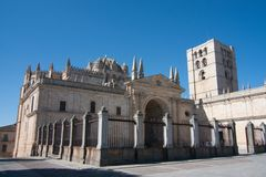 Kathedraal in Zamora Stock Afbeelding
